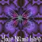 Ecrater Store Logo & HomePage Image Purple Butterfly Dress Up your Ecrater Store!!