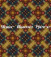 Ecrater Store Logo & HomePage Image Brown Red Quilt Pattern Dress Up your Ecrater Store!!