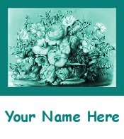 Ecrater Store Logo & HomePage Image Teal Green Flower Bouquet Dress Up your Ecrater Store!!