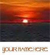 Ecrater Store Logo & HomePage Image Orange Black Ocean Sunset Dress Up your Ecrater Store!!