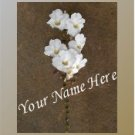 Ecrater Store Logo & HomePage Image White Hawaiian Flower Brown Dress Up your Ecrater Store!!