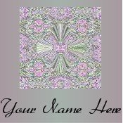 Neoloch.com Store Banner and Logo Combo Pink Green Cross Pattern Add your Store Name!