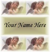Neoloch.com Store Banner and Logo Combo Cherubs Baby Angels Kissing Add your Store Name!