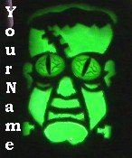 Neoloch.com Store Banner and Logo Combo Green Frankenstein Halloween Add your Store Name!