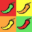 Hot Peppers - 8x8 Print