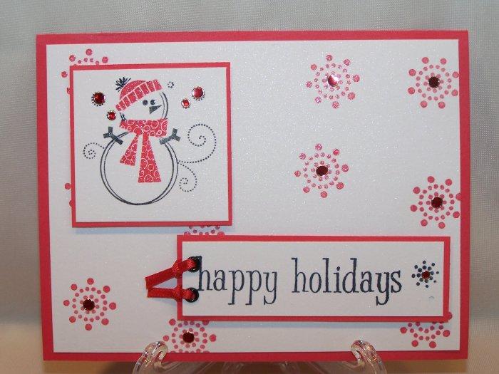 Happy Holidays snowman #123