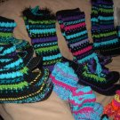 "Handmade Unisex Wool Slipper Socks Mukluks Child 6"" Tall"
