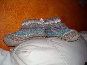 """Handmade Unisex Slipper Socks Mukluks Youth or Adult Size  6"""" Tall"""