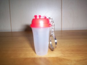 Tupperware Quick Shake Key Chain Collectible