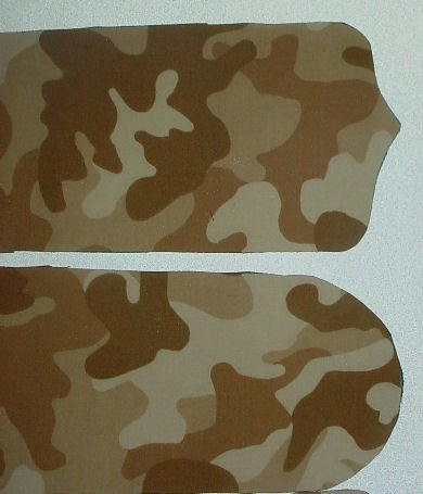 BROWN CAMOUFLAGE Ceiling Fan, 42 inch with Light NIB