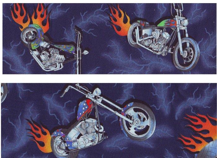 """MOTORCYCLE CHOPPER HARLEY THEME, Ceiling Fans 42"""" w/ Light NIB!"""