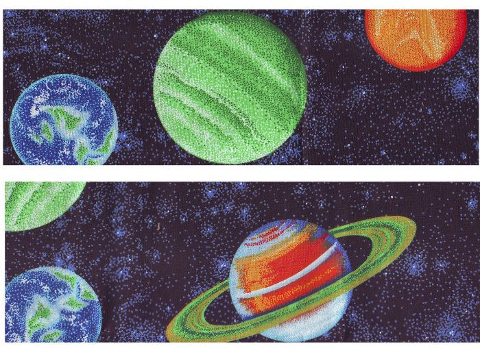 """OUTER SPACE PLANETS, GLOW IN DARK Kid's Ceiling Fans 42"""" w/ Light NIB!"""