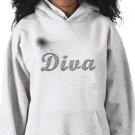 DIVA Design Kids Hooded Sweatshirt Hoodie size youth lg
