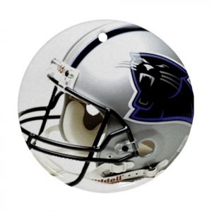 Panthers Porcelain Flat Round Ceiling Fan pull or Ornament Football 28782418