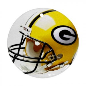 Greenbay Packers Porcelain Flat Round Ceiling Fan pull or Ornament Football 28782419