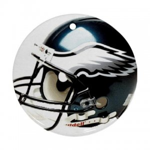 Eagles Porcelain Flat Round Ceiling Fan pull or Ornament Football 28783272