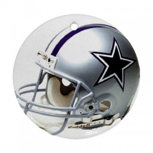 Dallas Cowboys Porcelain Flat Round Ceiling Fan pull or Ornament Football 28783273