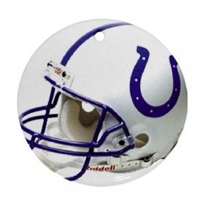 Colts Porcelain Flat Round Ceiling Fan pull or Ornament Football 28783274