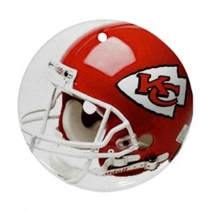 Kansas City Chiefs Porcelain Flat Round Ornament Ceiling Fan pull Football 28783275