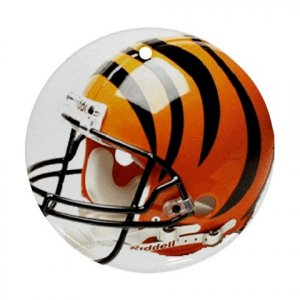 Bengals Porcelain Flat Round Ornament Ceiling Fan pull Football 28783281