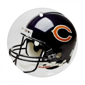 Chicago Bears Porcelain Flat Round Ornament Ceiling Fan pull Football 28783282