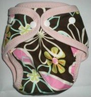 Brown Daisy - Snazzy Cloth Diaper (RM 68)
