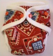 Red Bandana - Snazzy Cloth Diaper (RM 68)
