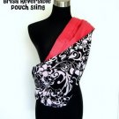Brisa Black & White Floral Polyester with Satin Cotton Pink