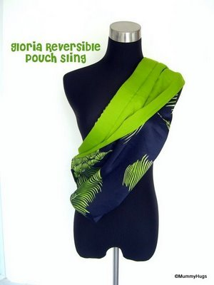 Gloria Green Floral on Dark Blue Rose Silk with Satin Light Green