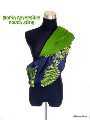 Gloria Green Floral on Dark Blue Rose Silk with Satin Dark Green