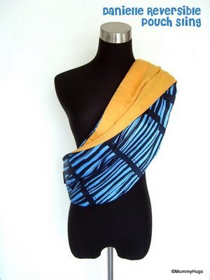 Danielle Blue with Stripes Rose Silk with Yellow Satin Cotton