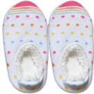 Japan Baby Low-cut Anti-Slip Socks - White Dots, RM 12/pair