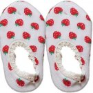 Japan Baby Low-cut Anti-Slip Socks - White Strawberry, RM 12/pair