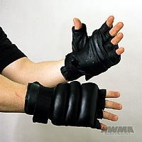 AWMA® ProForce® Martial Arts gear FINGERLESS GRAPPLING Bag GLOVES Size L
