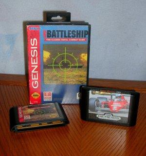 Super Battleship and Super Monaco GP Sega Genesis Video Games. ORIGINAL SEGA GENESIS GAMES!!!