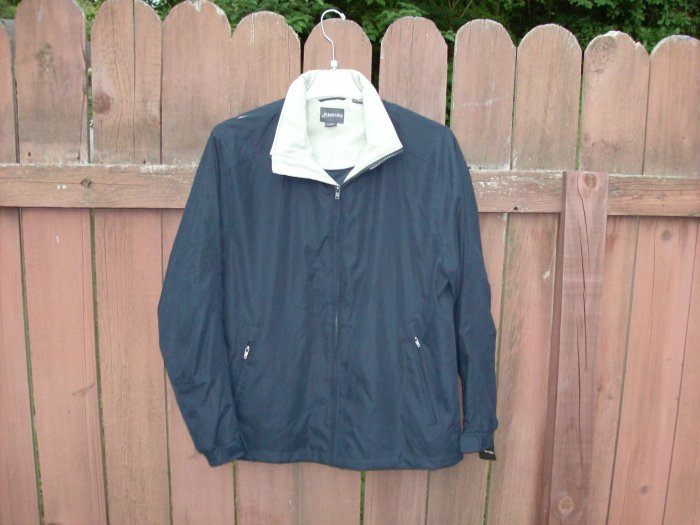 St. John's Bay Men's Navy/Stone Jacket - Large