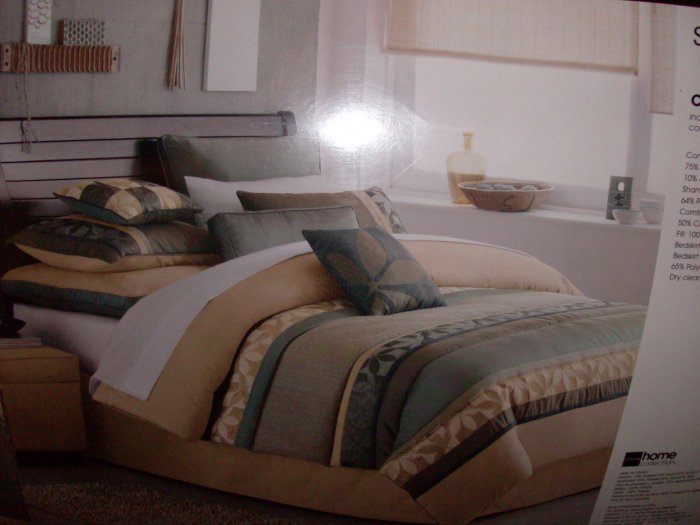 Shadow Leaf Queen Sized Comforter Set by Studio
