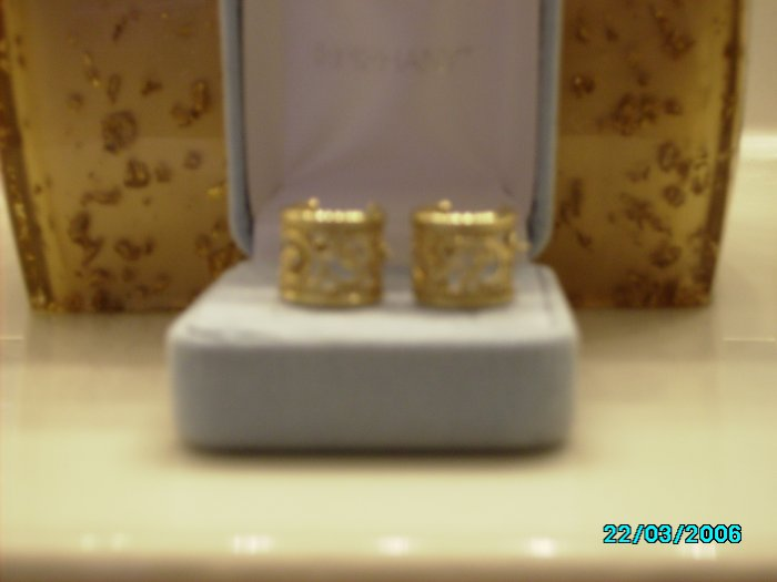 Gold Filagree Mini Hoops