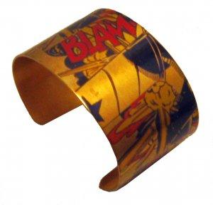 """Blam! 1 1/2"""" Pop Art Comic Cuff Bracelet"""