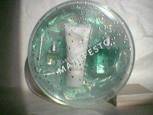 Isabella Rossellini  Manifesto  Shimmering Luxuries Giftset Eau - Body Balm lotion  EDT purse  FS