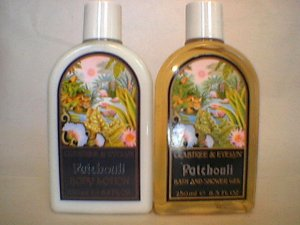 Crabtree Evelyn Patchouli Large Shower Gel + Lotion    Rare 250 ml  Large 8.5, 8.8 oz