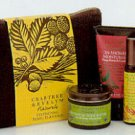 Crabtree Evelyn Revitalising Travel Essentials Naturals 5 Pc. Kit  bath butter mist