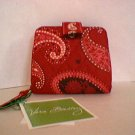 Vera Bradley Mini Zip Wallet snappy Mesa Red • NWT Retired snappy ID coin credit card ID case