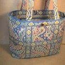 Vera Bradley Large Tic Tac Tote Capri Blue NWT Retired  XL diaper  overnight weekend carryon satchel
