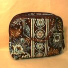 Vera Bradley Purse Cosmetic bag Java  Blue • make-up case travel cosmetic  NWT Retired HTF
