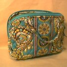 Vera Bradley Purse Cosmetic makeup travel case Peacock  NWT Retired