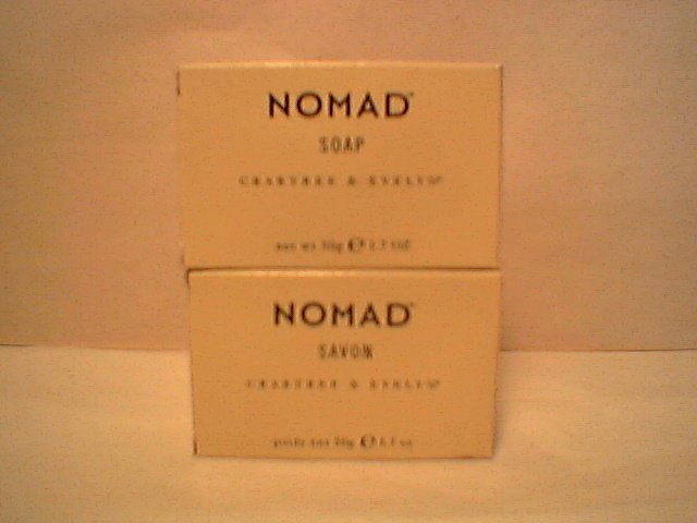Crabtree Evelyn Nomad Travel Size bar Soap   1.4 oz x 2  Mens