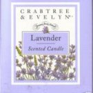 Crabtree & Evelyn Poured Candle classic Lavender 45 Hr  Disc'd