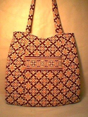 Vera Bradley Curvy Tote Medallion shopper purse knitting bag  NWT Retired
