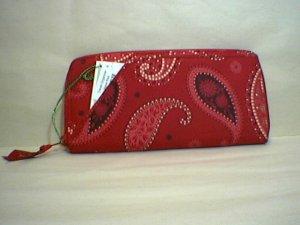 Vera Bradley Travel Organizer zip around passport wallet clutch  Mesa Red Retired NWT